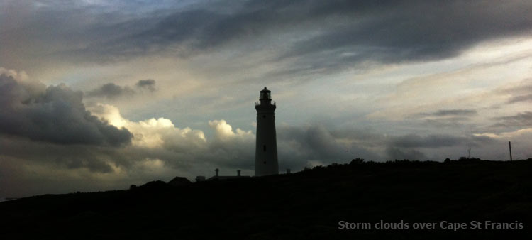 Storm Clouds over Cape St Francis Lighthouse