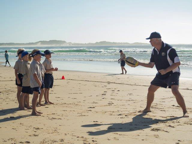 Rugby on Cape St Francis beach