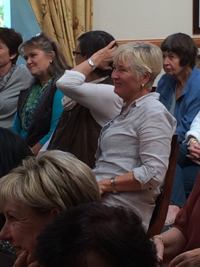 Audience at Jenny Rayment talk on Hypnotherapy
