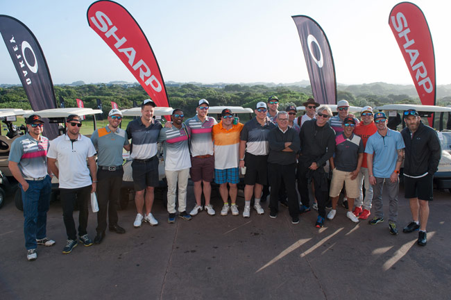 Golfers competing Oakley X Over Golf