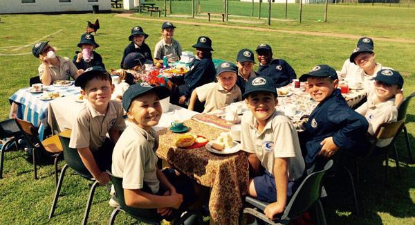 Grade 2 had a High Tea picnic. Photographs: Caroline Anderson
