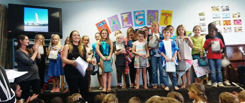 Talent Show Judge Shona Marais congratulating all the winners of the junior performance - Photographs: Roxanne Litherland