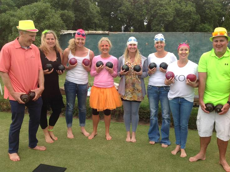 Barefoot Bowls - adults & kids having fun