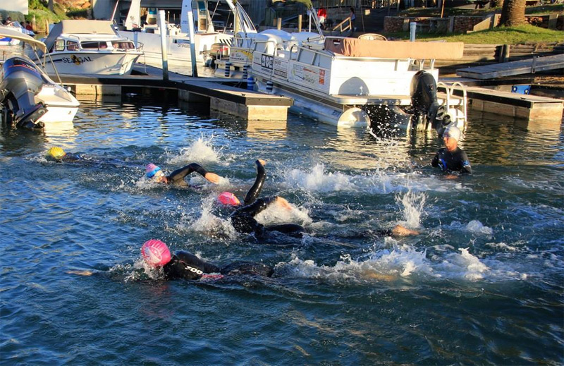St Francis Open Water Swimmers - They're off
