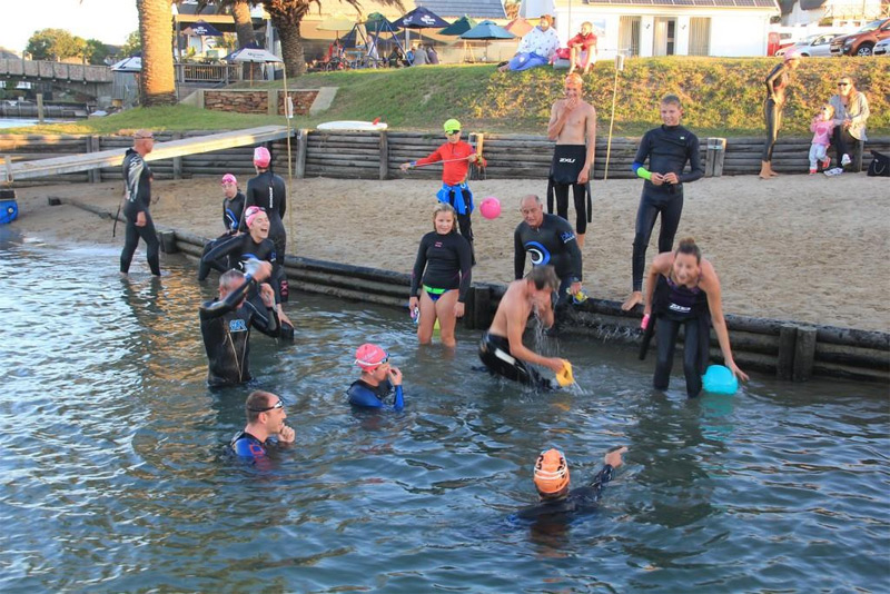 St Francis Open Water Swimming - ready to start
