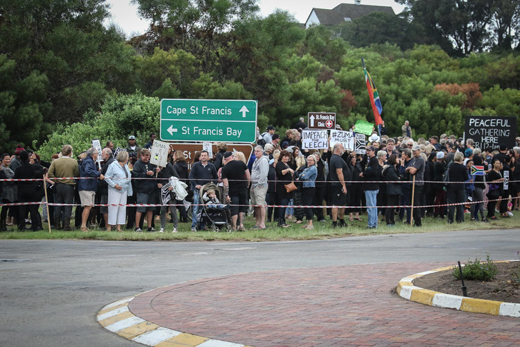 A peaceful gathering in St Francis Bay