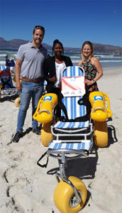 amphibious wheelchairs to improve accessibility at selected Blue Flag beaches
