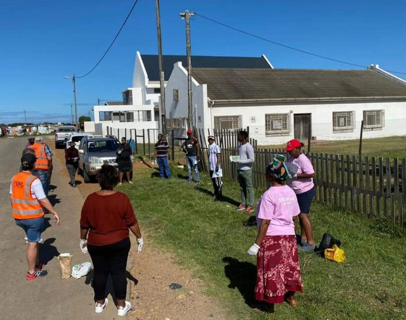 St Francis Disaster Volunteer Group distributing soap in Sea Vista