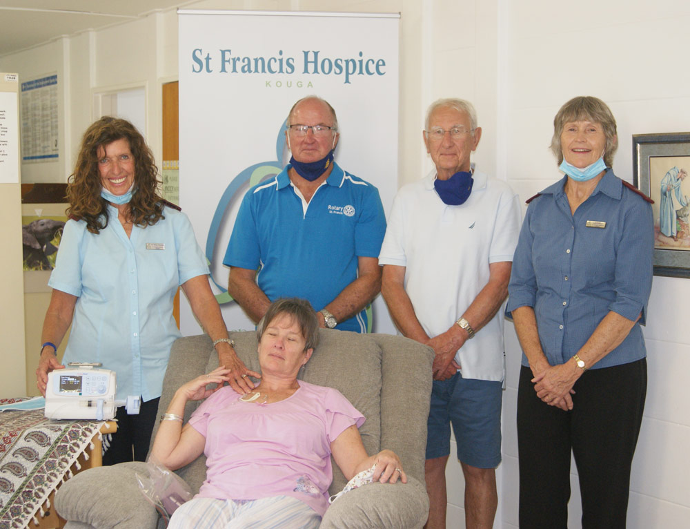 Hospice receives a boost through Rotary Club of St Francis