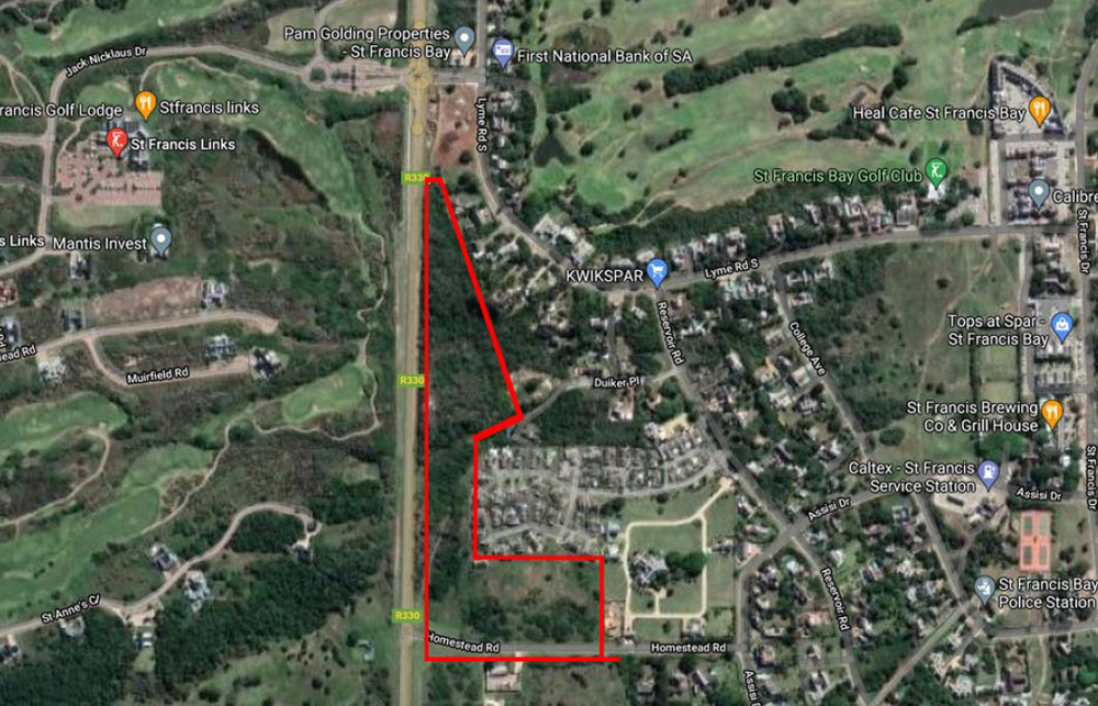 Homestead Views Security Estate locality map