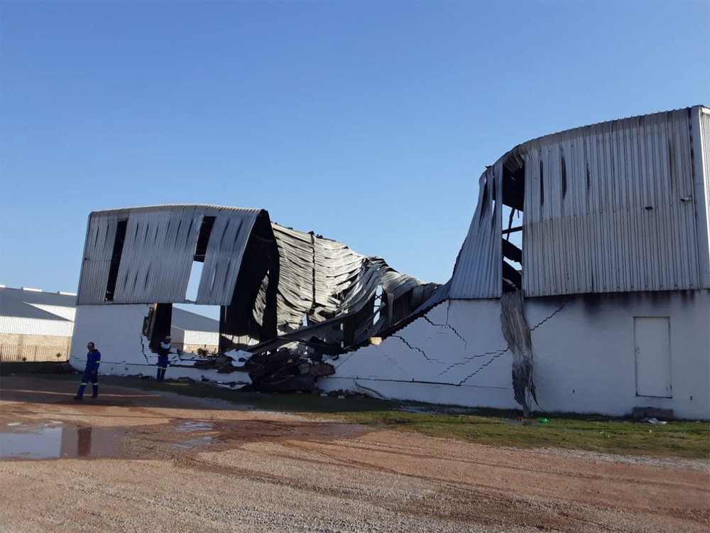 Nexus Yacht shed destroyed